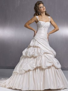 A Maggie Sottero wedding gown, which inweddingdress.com put as a photograph for one of their items.