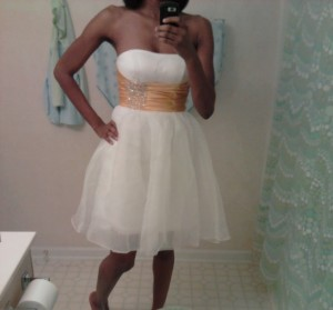 Front of the knock off dress